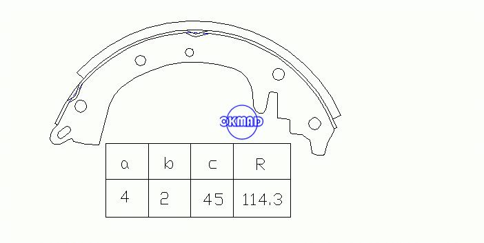 IHC JEEP WILLYS TRUCK Drum Brake shoes FMSI:2011-S40, OK-BS215