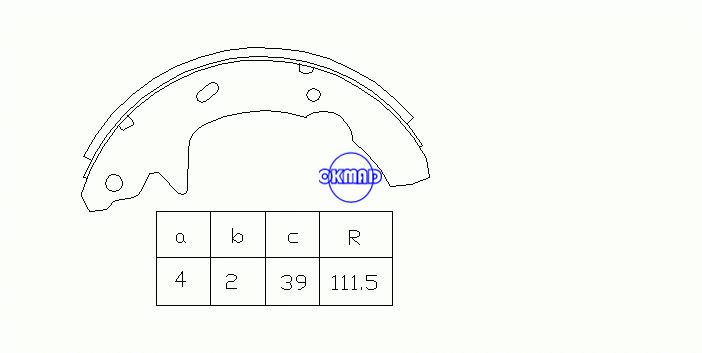 FORD Taurus HYUNDAI Sonata MERCURY Sable Drum Brake shoes FMSI:1395-S599 OEM:F2DZ-2200-B, OK-BS216R