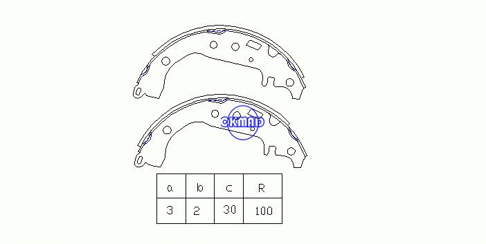 TOYOTA CELICA Coupe COROLLA Saloon PRIUS Hatchback YARIS VERSO Brake shoes FMSI: 8105-S753 OEM:04495-52020 FSB582 K2342 GS8673, OK-BS220