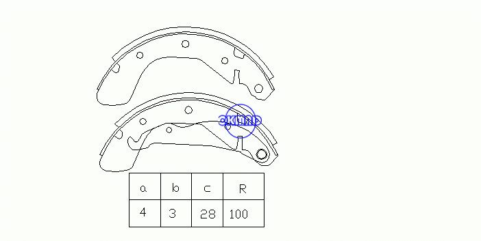 OPEL CORSA A Hatchback (S83) Brake shoes OEM:90542862 FSB334 GS8542, OK-BS022