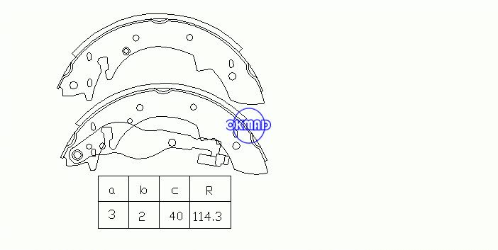 ALFA ROMEO 33 Sportwagon GEO TRACKER Station Wagon RENAULT RAPID Box SUZUKI SAMURAI VOLVO 340-360 Saloon Drum Brake shoes FMSI:1382-S548 OEM:32778300 FSB526 GS8524, OK-BS227