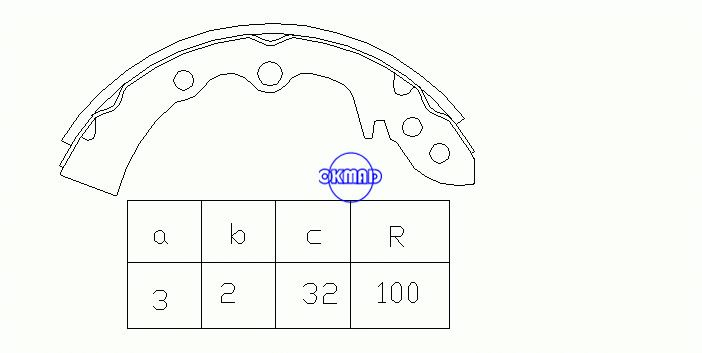 MAZDA 1000 1300 323 I Station Wagon Drum Brake shoes FMSI:8118-S429 OEM:8531-33-310 MK3307 FSB053 GS8042, OK-BS229