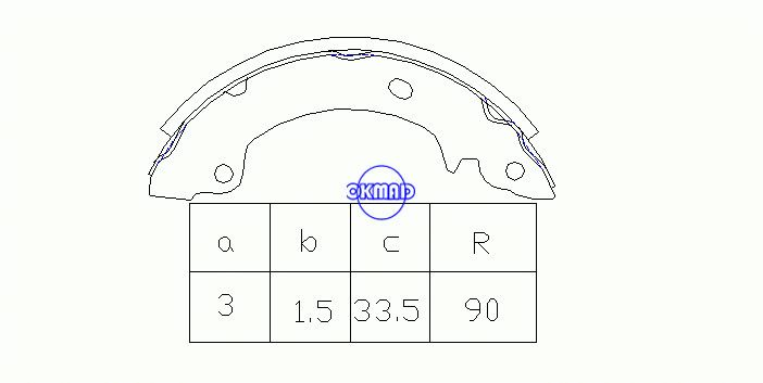 HYUNDAI PONY / EXCEL Saloon (X-2) S COUPE (SLC) Drum Brake shoes FMSI:1423-S620 OEM:58305-23A00 FSB269 FK-11148 K11148 GS8552, OK-BS230