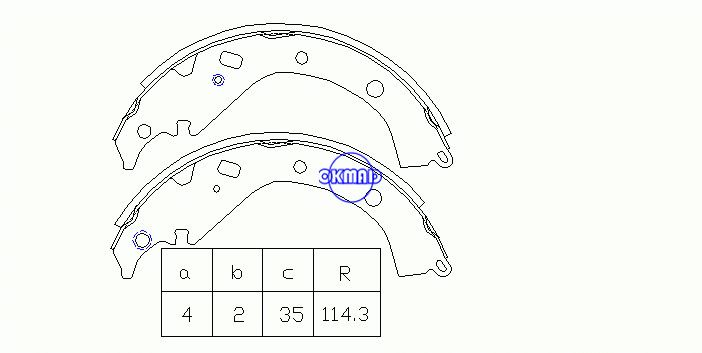 TOYOTA CORONA PREMIO SPACIO SIENTA SUCCEED OPA PREMIO PROBOX WISH Drum Brake shoes FMSI:1447-790 OEM:04495-63010 K2358 GS7816, OK-BS232