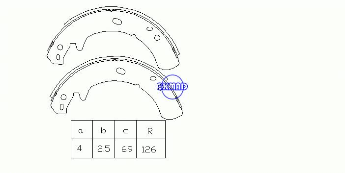 LAND ROVER DEFENDER Cabrio Pickup Station Wagon DISCOVERY I II Drum Brake shoes FMSI:1557-S825 OEM:ICW500010 FSB473 GS8429, OK-BS233