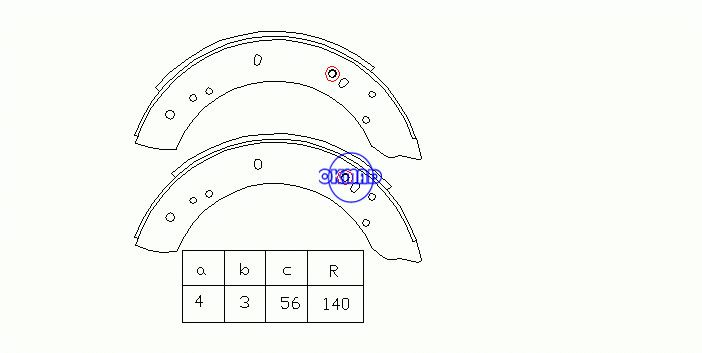 LAND ROVER 110/127 (LDH) 88/109 (LR) 88/109 Hardtop Drum Brake shoes FMSI:1494-S713 OEM:RTC3418 FSB347 GS6082, OK-BS239