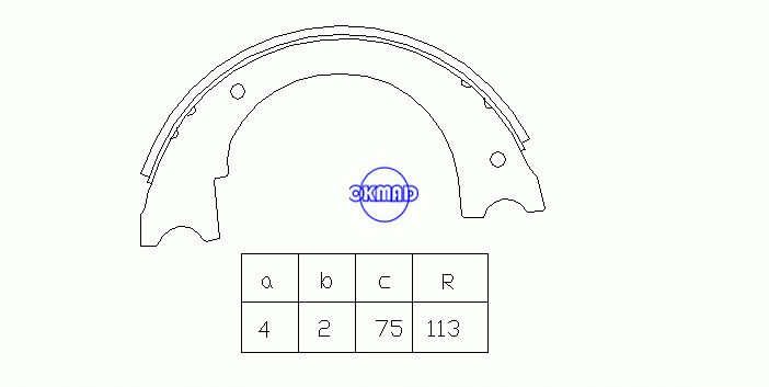 DODGE MD FORD MD School Bus Chassis Drum Brake shoes FMSI:2086-S646 OEM:D3HZ2648B, OK-BS249R