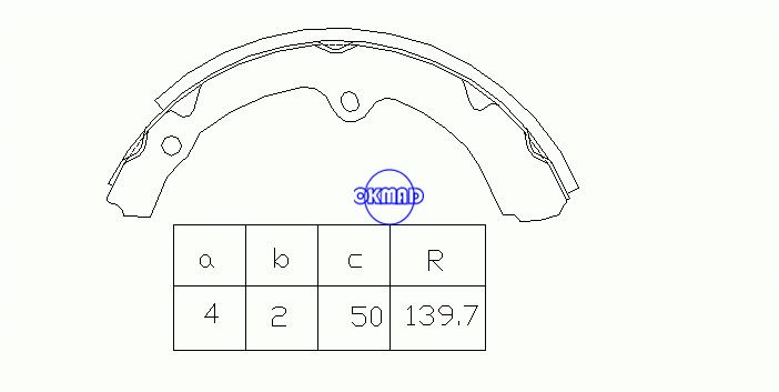 TOYOTA  HILUX III IV Pickup Drum Brake shoes OEM:04494-35060 MK2293 GS7083, OK-BS250