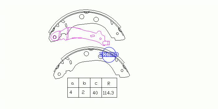 NISSAN KUBISTAR MPV PRIMERA Hatchback Traveller RENAULT GRAND KANGOO Express Drum Brake shoes FMSI:1694-S1028 OEM:44060-3J325 MK1230 FSB577 GS8655, OK-BS258