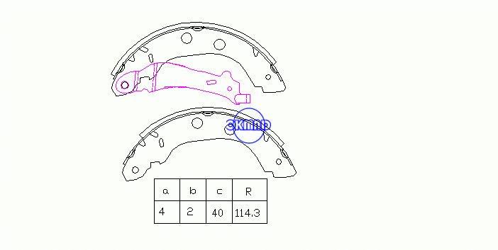 NISSAN KUBISTAR MPV PRIMERA Hatchback Traveler RENAULT GRAND KANGOO Express Drum Тормозные колодки FMSI: 1694-S1028 OEM: 44060-3J325 MK1230 FSB577 GS8655, OK-BS258