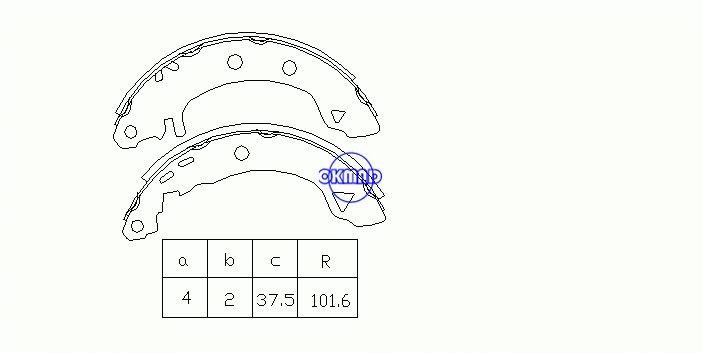 ALFA ROMEO CITROEN AX FIAT BRAVA BRAVO MAREA Weekend RENAULT 19 II Chamade RAPID Box Drum Brake shoes OEM:95659661 FSB401 GS8631, OK-BS261