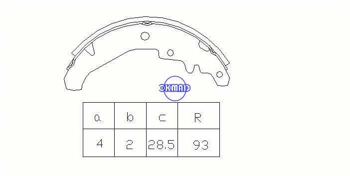 FIAT PALIO Hatchback SIENA Drum Brake shoes OEM:7078585 FSB594 GS8436, OK-BS262