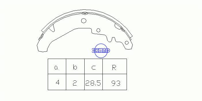 FIAT PALIO Хэтчбек SIENA Барабанные тормозные колодки OEM: 7078585 FSB594 GS8436, OK-BS262
