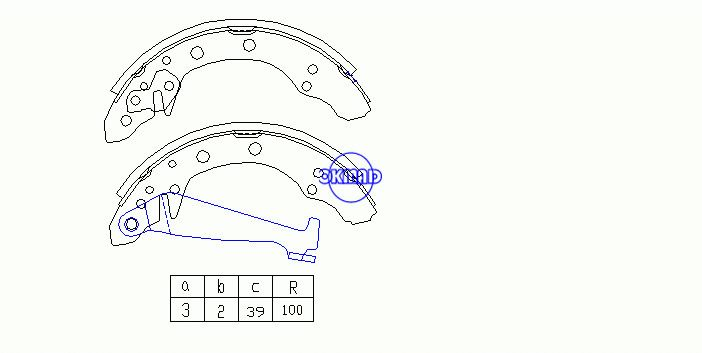 VW JETTA POLO GOLF PASSAT SANTANA SKODA FABIA SEAT IBIZA AUDI 80 90 A2 Drum Brake shoes FMSI:1450-S662 OEM:1H0698525 FSB408 GS8092, OK-BS265R