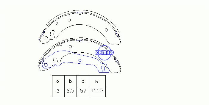 FORD SIERRA Hatchback Turnier Drum Brake shoes OEM:5020552 FSB176 GS6207, OK-BS267