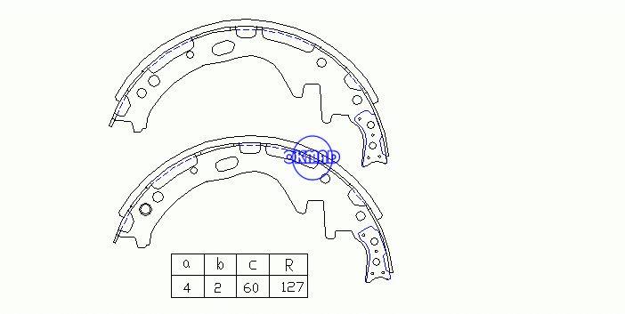 NISSAN PICK UP (D21) TERRANO ROULOTTE / HOMY DATSUN TRUCK Ganasce freno a tamburo FMSI:2170-S572 OEM:44060-03N25 FSB317 FN-1175 K1171 GS8513, OK-BS276
