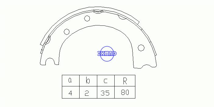 TOYOTA Coaster Dyna Totyace Qiick Delivery Drum Brake shoes OEM:46550-36030 MK2257 GS7088, OK-BS279