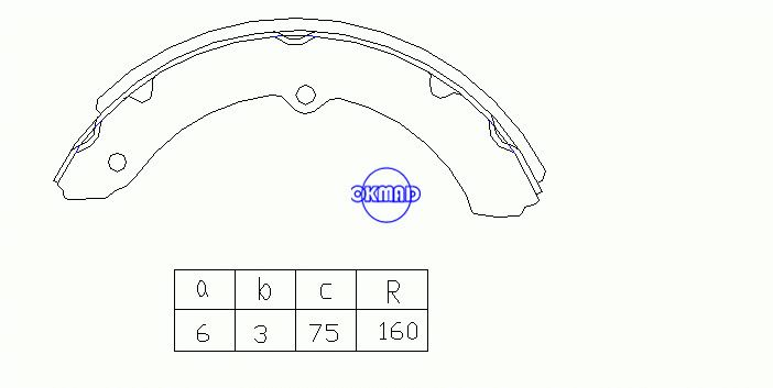 TOYOTA DYNA TOYOACE COASTER Drum Brake shoes OEM:04494-36100 K2294 GS7084 GS7094, OK-BS283R