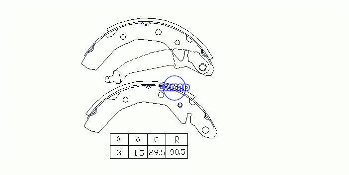 Pattini per freni a tamburo CHEVROLET (SGMW) SPARK DAEWOO MATIZ FMSI: 1666-S995 OEM: 96268686 FSB566 K11169 GS8646, OK-BS298