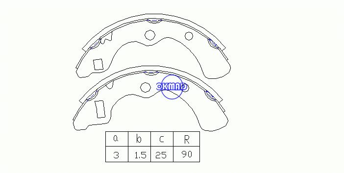 HONDA CIVIC II Estate PRELUDE I Coupe QUINTET Drum Brake shoes FMSI:1347-S536 OEM:43153-SAO-013 MK5510 FSB163 GS8085, OK-BS300