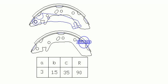 HYUNDAI ACCENT II Saloon KIA (DYK) QIANLIMA Drum Brake shoes FMSI:1451-S749 OEM:58305-25A00 FSB606 MK11165 GS8684, OK-BS319
