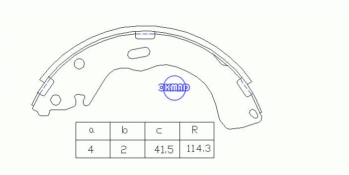 FORD MAVERICK MAZDA 626 PREMACY TRIBUTE Drum Brake shoes FMSI:1524-S760 OEM:ECY1-26-38ZC MK3382 GS8664, OK-BS320