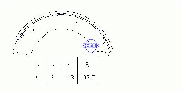 CHEVROLET/GMC TRUCK Express Silverado DODGE TRUCK Ram FORD TRUCK Super Duty Drum Brake shoes FMSI:2192-S771 OEM:12473088, OK-BS321