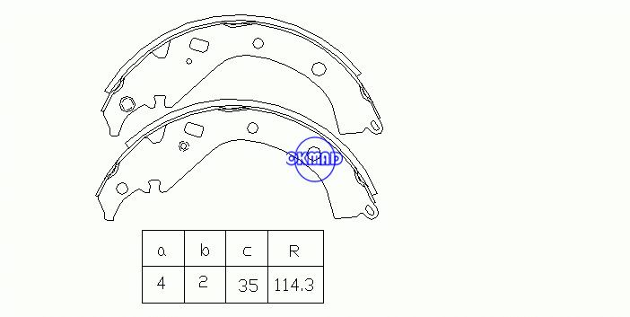 TOYOTA CORONA PREMIO SIENTA SUCCEED VAN PROBOX WAGON COROLLA SPACIO Drum Brake shoes FMSI:1447-S790 OEM:04495-63010 MK2358 GS7816, OK-BS323