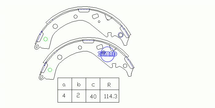 TOYOTA RAV 4 II TRUCK RAV4 4-2.0L 4-2.4L Drum Brake shoes FMSI:1542-S802 OEM:04495-42080 FSB650 MK2404 MK2371 GS8492, OK-BS324