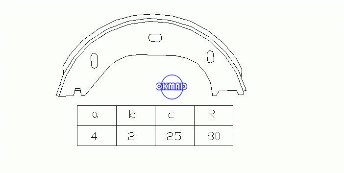 BMW 6 (E24) Drum Brake shoes FMSI:1551-S901 OEM:34411159467 FSB92 GS8219, OK-BS330
