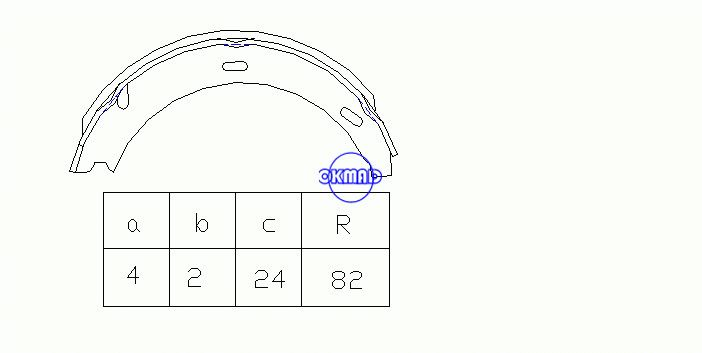 MERCEDES BENZ S-CLASS (W140) Coupe (C140) Drum Brake shoes FMSI:1562-S830 OEM:1404200820 FSB539 GS8595, OK-BS337