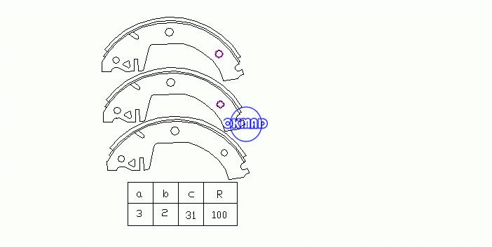 SKODA FAVORIT Forman Pickup (787) Drum Brake shoes OEM:115330143 FSB325 GS8300, OK-BS339