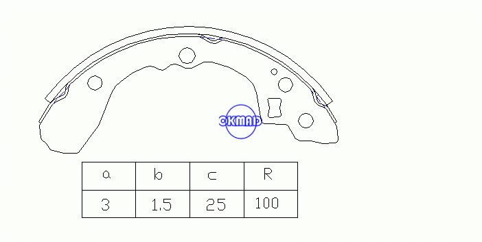 KIA RIO Estate Saloon Drum Brake shoes FMSI:1527-S775 OEM:58315-FDA00 FSB210 MK11177 K3347 K3356 GS8439, OK-BS357