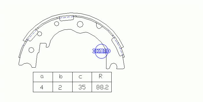 TOYOTA DYNA Platform/Chassis Drum Brake shoes OEM:46530-25010 MK0015 GS7269, OK-BS394