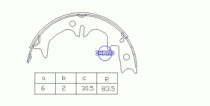 TOYOTA Mark II Crown Cressida Ceppi freno a tamburo FMSI: 2200-S895 OEM: 46540-22011 FSB4008 MK2308 GS7092, OK-BS405