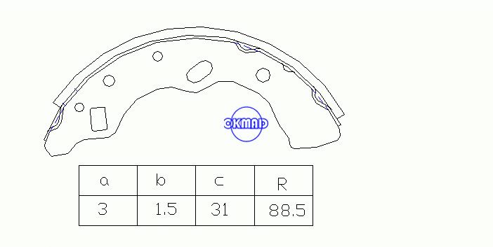 MAZDA 121 II (DB) Drum Brake shoes OEM:D1Y2-26-38Z MK3387 FSB538 GS8581, OK-BS424