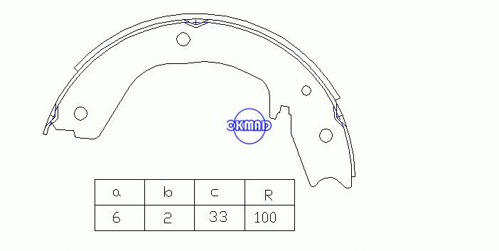 MITSUBISHI PAJERO CLASSIC III Canvas Top MONTERO Drum Brake shoes FMSI:2188-S767 OEM:MR535718 FSB4027 MFR627, OK-BS428