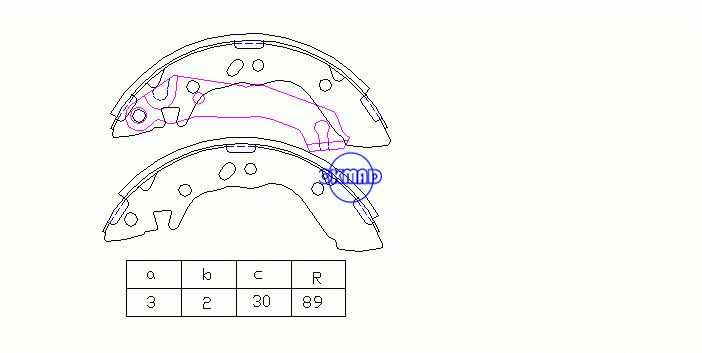 HYUNDAI ACCENT I Saloon (X-3) Drum Brake shoes FMSI:1379-S707 OEM:58305-22A01 FSB605 MK11162 GS8658, OK-BS445