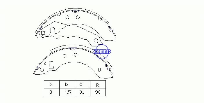 FORD ESCORT III IV Convertible Turnier ORION I II Drum Brake shoes OEM:6150270 FSB153 GS6151, OK-BS448