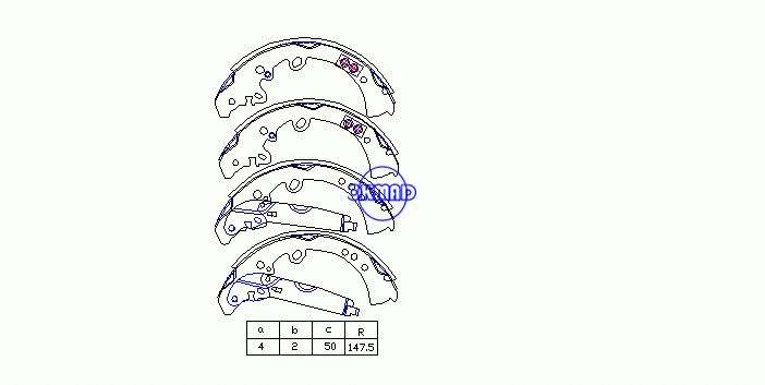 TOYOTA FORTUNER HILUXSURF TRUCK 4RUNNER Drum Brake shoes OEM:04495-0K120 MK2395, OK-BS477