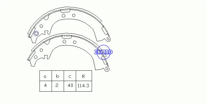 TOYOTA RAV 4 I Cabrio II DAIHATSU TERIOS Drum Brake shoes FMSI:1447-S587 OEM:04495-42010 K2333 GS8649, OK-BS501 Measures:228.6x40 mm