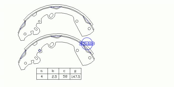 DODGE Truck Dakota 2005 Drum Brake shoes FMSI:1582-S853 OEM:05159106AA, OK-BS504