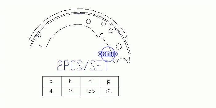 ISUZU ELF150 250 Hipac Van NISSAN Atlas Drum Brake shoes OEM:5462200010 K4404 T404 GS7146, OK-BS508