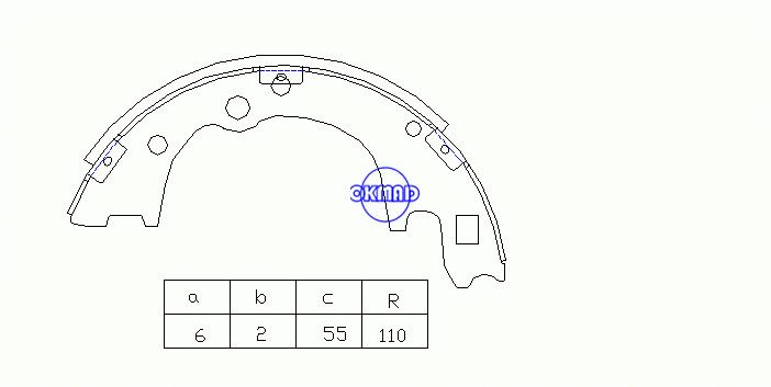 HYUNDAI H-1 H100 Bus Pick-up KIA BONGO Bus Mazda Bongo J100 J80 E2500 Ceppi freno a tamburo OEM: 58350-4EA00 SA135 GS7124 GS8428, OK-BS511