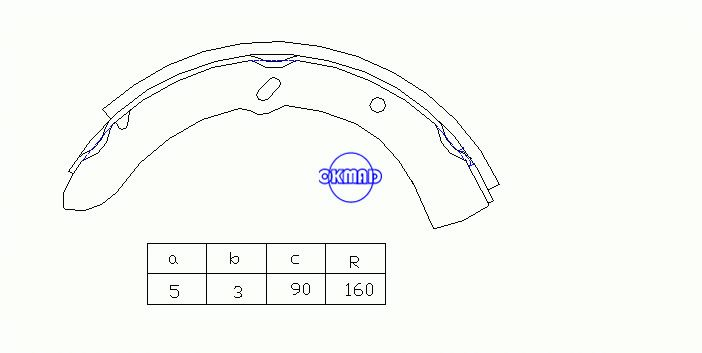 MAZDA TITAN Drum Brake shoes OEM:W358-33-37ZA K3362 T362 GS7130, OK-BS512R