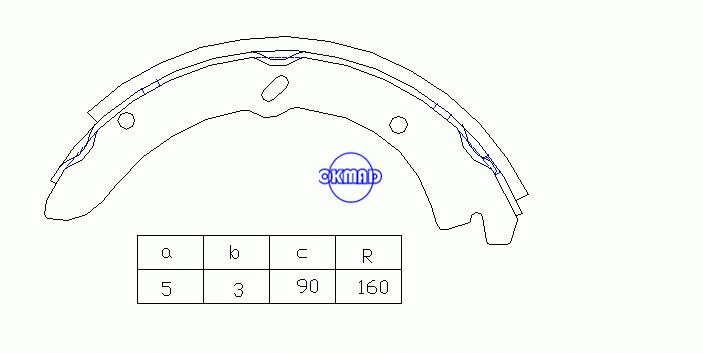 MAZDA TITAN Drum Brake shoes OEM:W358-26-310A K3362 T362 GS7130, OK-BS513R