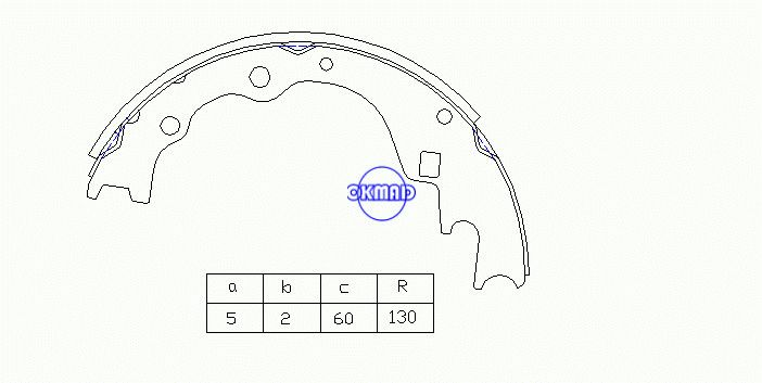KIA BONGO Ⅲ VAN 15 seats PREGIO (NEW) 2.7D/2.5TCi  Drum Brake shoes OEM:0K79A-26-38Z SA127, OK-BS527