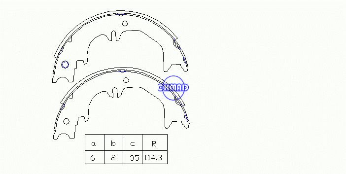 TOYOTA Land Cruiser 100 LEXUS LX470 LX450 Drum Brake shoes FMSI:1574-S844 OEM:46540-60050 FSB4125, OK-BS530