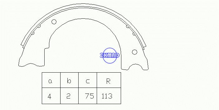 CHEVROLET GMC MD FORD F450 F550 F59 Drum Brake shoes FMSI:2086-S647 OEM:15661993 647PG, OK-BS531