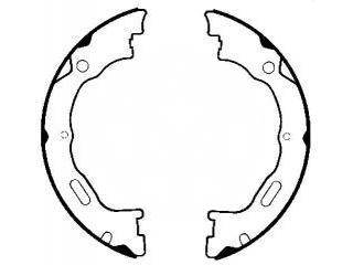 DODGE TRUCK Ram FORD Crown Victoria LINCOLN Town MERCURY Grand Marquis Drum Brake shoes FMSI:2195-S809 OEM:3W1Z-2N712-AA, OK-BS580
